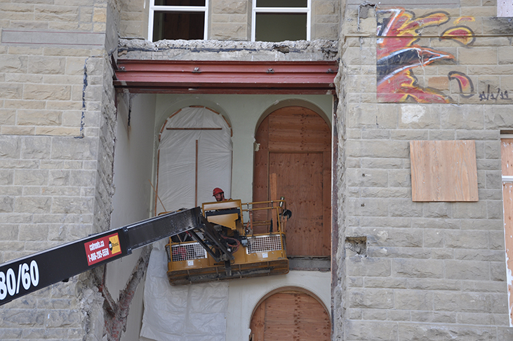 Demolition of 60s staircase completed