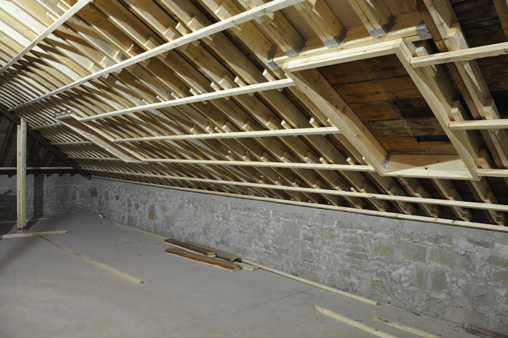 Framing for skylights in artist attic studios