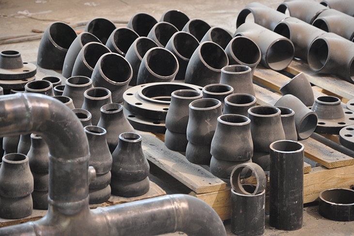 Pipe fittings await compilation into mechanical system