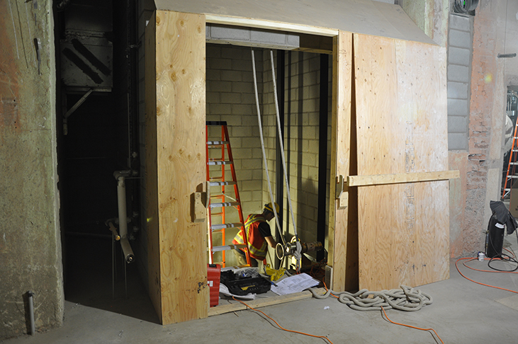 Installation of new elevator hoistway